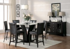 Daisy 7pc Dark Brown Counter Height Dining Room Set Available Online in Dallas Fort Worth Texas