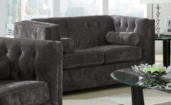 Coaster Alexis Charcoal Loveseat Available Online in Dallas Fort Worth Texas