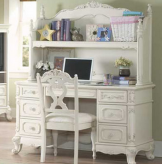 Homelegance Cinderella White Desk With Hutch Available Online in Dallas Fort Worth Texas