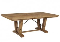 Avalon Rustic Oak Dining Table Available Online in Dallas Fort Worth Texas