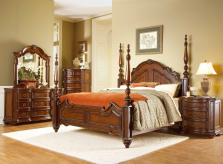 Prenzo Poster Queen 5pc Bedroom Group Available Online in Dallas Fort Worth Texas