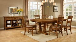 Avalon 7pc Brown Dining Table Set Available Online in Dallas Fort Worth Texas