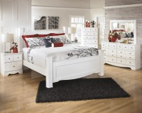 Ashley Weeki 5pc King Poster Bedroom Group Available Online in Dallas Fort Worth Texas