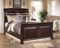 Ashley Ridgley Queen Sleigh Bed Available Online in Dallas Fort Worth Texas