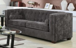 Coaster Alexis Charcoal Sofa Available Online in Dallas Fort Worth Texas