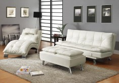 Coaster Dilleston White 3pc Sofa Bed Group Available Online in Dallas Fort Worth Texas