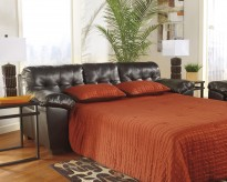 Ashley Alliston DuraBlend Chocolate Queen Sofa Sleeper Available Online in Dallas Fort Worth Texas