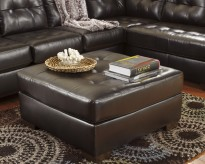 Alliston DuraBlend Chocolate Ottoman Available Online in Dallas Fort Worth Texas