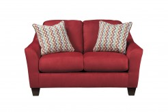 Ashley Hannin Red Loveseat Available Online in Dallas Fort Worth Texas