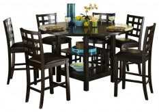 Homelegance Glendine 7pc Dark Espresso Counter Height Dining Room Set Available Online in Dallas Fort Worth Texas