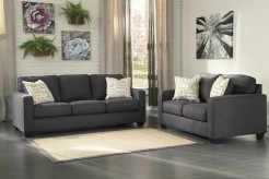 Alenya 2pc Charcoal Sofa & Loveseat Set Available Online in Dallas Fort Worth Texas