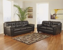 Alliston DuraBlend Chocolate 2pc Sofa & Loveseat Set Available Online in Dallas Fort Worth Texas