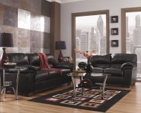 Ashley Commando Black 2pc Sofa & Loveseat Set Available Online in Dallas Fort Worth Texas