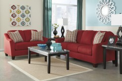 Ashley Hannin Red 2pc Sofa & Loveseat Set Available Online in Dallas Fort Worth Texas