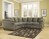 Darcy 2pc Sage Sectional Available Online in Dallas Fort Worth Texas