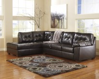Alliston DuraBlend Chocolate 2pc Sectional Left Side Chaise Available Online in Dallas Fort Worth Texas