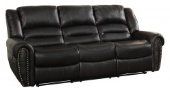 Homelegance Center Hill Black Reclining Sofa Available Online in Dallas Fort Worth Texas