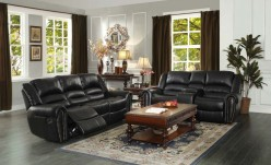 Center Hill Black Reclining Sofa & Loveseat Set Available Online in Dallas Fort Worth Texas