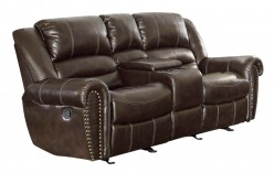 Center Hill Dark Brown Glider Loveseat Available Online in Dallas Fort Worth Texas