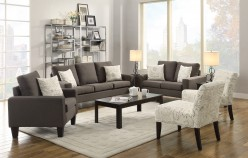 Coaster Bachman Grey 2pc Sofa & Loveseat Set Available Online in Dallas Fort Worth Texas