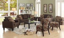 Coaster Bachman Chocolate 2pc Sofa & Loveseat Set Available Online in Dallas Fort Worth Texas