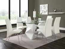 Ophelia White 7pc Dining Room Set Available Online in Dallas Texas