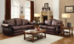 Homelegance Midwood 2pc Brown Sofa & Loveseat Set Available Online in Dallas Fort Worth Texas
