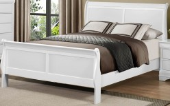 Mayville Queen White Sleigh Bed Available Online in Dallas Fort Worth Texas