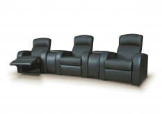 Cyrus Leather Media Seating Group Available Online in Dallas Fort Worth Texas