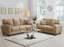 Homelegance Rubin 2pc Light Brown Sofa & Loveseat Set Available Online in Dallas Fort Worth Texas