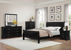 Homelegance Mayville Queen 5pc Black Sleigh Bedroom Group Available Online in Dallas Fort Worth Texas