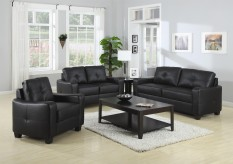 Jasmine Black Sofa & Loveseat Set Available Online in Dallas Fort Worth Texas