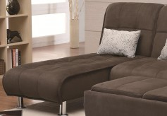 Coaster Ellwood Brown Chaise Bed Available Online in Dallas Fort Worth Texas