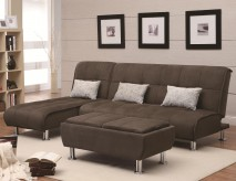 Coaster Ellwood 3pc Brown Sofa Bed Group Available Online in Dallas Fort Worth Texas