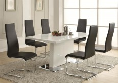 Coaster Nameth Black 5pc Dining Set Available Online in Dallas Fort Worth Texas