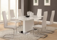 Coaster Nameth White 5pc Dining Set Available Online in Dallas Fort Worth Texas
