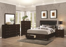 Coaster Jaxson Queen 5pc Platform/Storage Bedroom Group Available Online in Dallas Fort Worth Texas