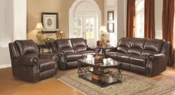 Sir Rawlinson 2pc Leather Reclining Sofa & Loveseat Set Available Online in Dallas Fort Worth Texas