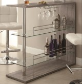 Coaster High Gloss Reclaimed Wood Bar Unit Available Online in Dallas Fort Worth Texas