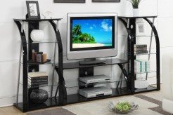 Jefferson 3pc Black Glass Wall Unit Available Online in Dallas Fort Worth Texas
