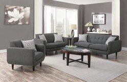 Coaster Stansall 2pc Grey Sofa & Loveseat Set Available Online in Dallas Fort Worth Texas