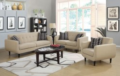 Stansall 2pc Ivory Sofa & Loveseat Set Available Online in Dallas Fort Worth Texas