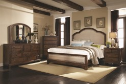 Coaster Laughton King 5pc Upholstered Bedroom Group Available Online in Dallas Fort Worth Texas