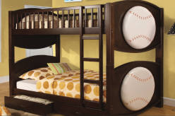 FOA Furniture Of America Baseball Twin/Twin Bunk Bed Available Online in Dallas Fort Worth Texas