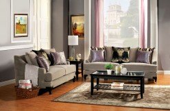 Vittoria 2pc Cocoa Brown Sofa & Loveseat Set Available Online in Dallas Fort Worth Texas