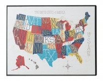 The 50 States Wall Art Available Online in Dallas Fort Worth Texas
