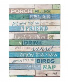 Coaster Porch Rules Wall Art Available Online in Dallas Fort Worth Texas