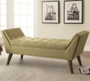 Flared Arm Green Accent Bench Available Online in Dallas Fort Worth Texas