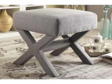 Coaster Roy Grey Ottoman with X-Shaped Base Available Online in Dallas Fort Worth Texas