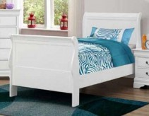 Louis Philippe White Twin Bed Available Online in Dallas Fort Worth Texas